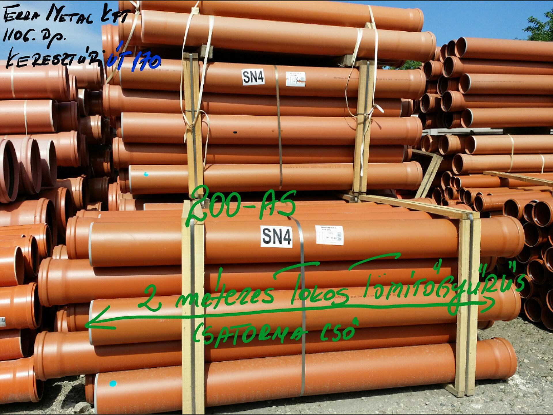 200 as multilayer sn4 csatorna pvc cso